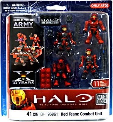 Mega Brands Halo Mega Bloks Exclusive Set 96961 Red Team Combat Unit