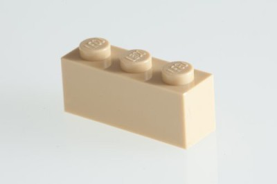 Factory Fresh Bulk Bricks 200X Lego Brickyellow (Tan) 1X3 Bricks Super Pack