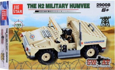 Planet of Toys H2 Military Humvee Building Block