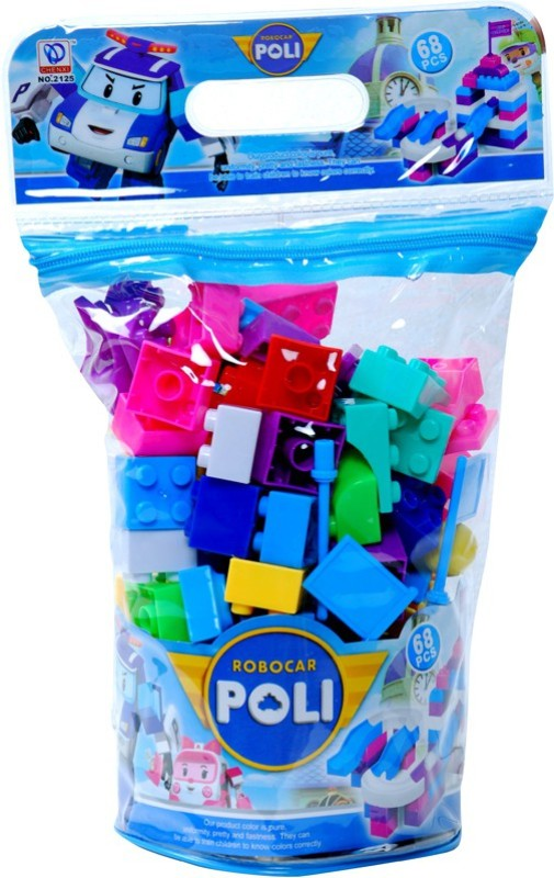 Montez Robocar Poli - Block Set 68pcs(Multicolor)