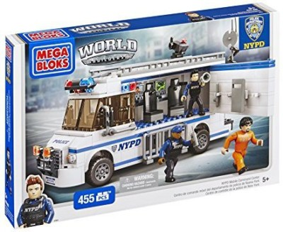 Mega Bloks World Builders Nypd Mobile Command Center