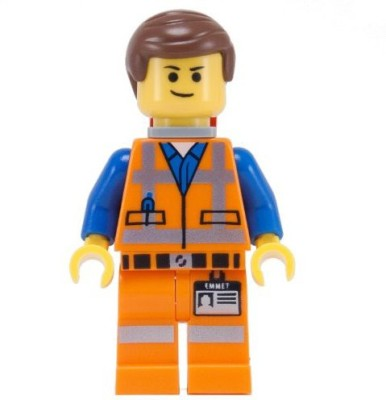 Lego Movie Emmet Mini With Doublesided Face (Smirk +(Multicolor)