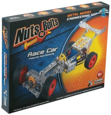 Nuts & Bolts Race Car Building Set(Multicolor)