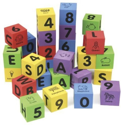 Chenille Kraft 4416 WonderFoam Learning Blocks, Assorted, 30 Blocks (CKC4416)