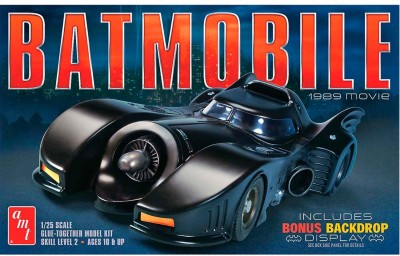 AMT USA 1/25 Scale 1989 Batmobile Plastic Model Kit