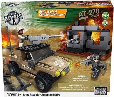 Mega Brands True Heroes Exclusive Mega Bloks Set Army Assault
