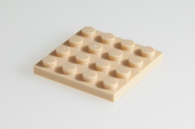 Factory Fresh Bulk Bricks 100X Lego Brickyellow (Tan) 4X4 Plates Super Pack
