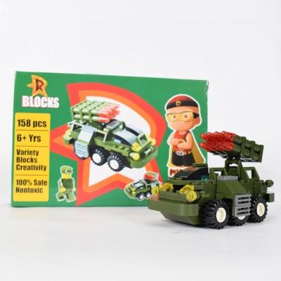 Green Gold Mighty Raju R Blocks Tank Olive Green - 158 Pieces