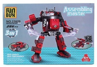 Fun Blox 3 in 1 Assembly Master- 286 Pieces