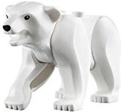 Lego Animal Mini Husky Artic White Polar Bear Black Eyes Nose