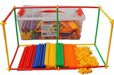 Smart Builder Toys Straws Builders 720 Pcs Set With Free Plastic Container
