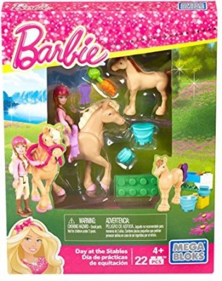 Mega Bloks Barbie Build ,N Play Day At The Stables Set