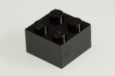 Factory Fresh Bulk Bricks 200X Lego Black 2X2 Bricks Super Pack