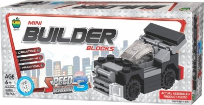 Lotus Applefun Builder Blocks Speed Racer 3(Multicolor)