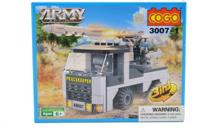 Mera Toy Shop Army Rocket Launcher Constructions Blocks 90pc