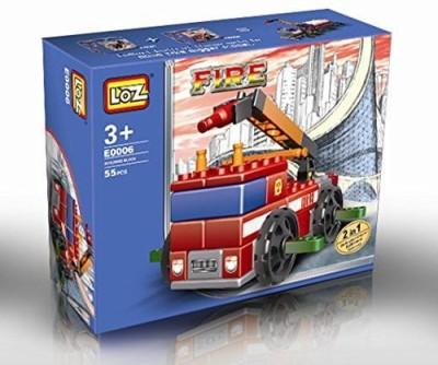 RYTECK-INOVATIVE Fire Truck Nanos 55Pcs Fallow The Instructions 2In1