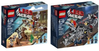 Lego Movie 70801 Melting Room Set & 70800 Getaway Glider(Multicolor)