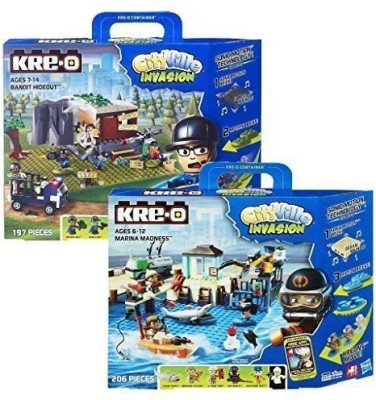 KRE-O CityVille Invasion Value 2 Pack, Includes Marina Madness Set and Dr. Mayhem Hideout