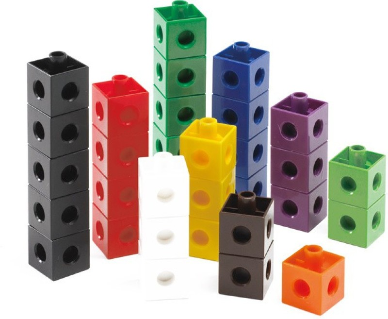 Math Buddy Labs Connecting Blocks(Multicolor)
