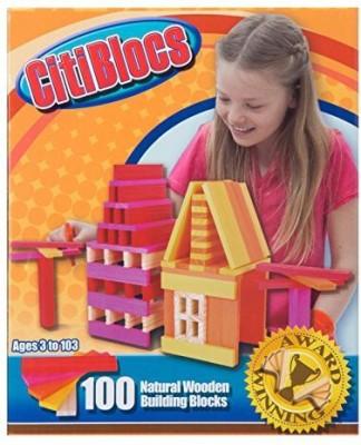 Citi Blocs 100-Piece Hot-Colored Building Blocks