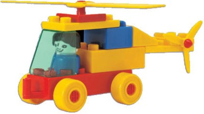 Peacock Kinder Blocks-Aeroplane and Helicopter Set
