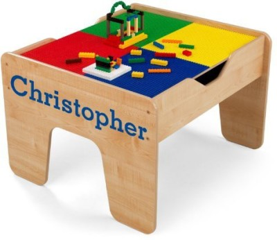 KidKraft Personalized 2In1 Activity Table With Blue Serif Christopher