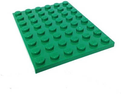 Lego Parts Plate 6 X 8 (Green)