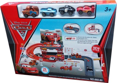 Gift World 29 pcs Mcquen car Parking