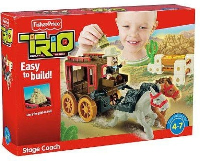 Fisher-Price Trio Stage Coach Building Set