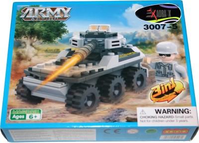 Adraxx DIY Hobby 3D Fighter Army Tank Model Assembling Kit