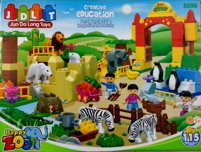 Jaibros Jdlt Happy Zoo Creative Education 115 Pcs Block Construction Set