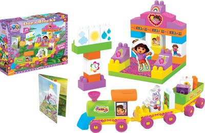Dora TRAIN BLOCKS 49 Pcs.(Multicolor)