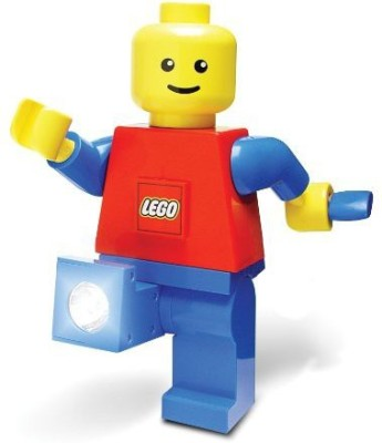 Play Visions Lego Hand Crank Dynamo Flash Light Torch Giant Lego Man