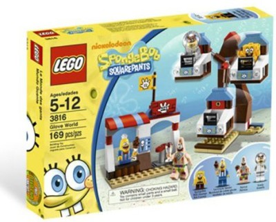 SpongeBob SquarePants Lego Spongebob Glove World 3816