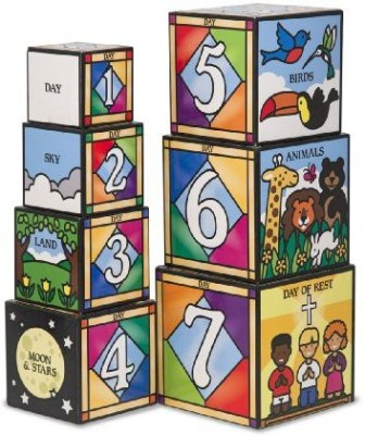 Melissa & Doug Days Of Creation Stacking And Nesting Blocks