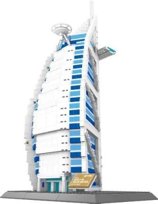 Wange The Burj Al Arab Hotel Of Dubai Building1307 Pcs Huge Gift