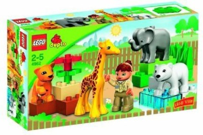 Duplo 18Piece Set Includes Animalszoo Keeperand Large Building