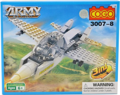 Mera Toy Shop Army Falcon Jet Constructions Blocks 90pc