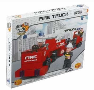 Click Bricks 5517727 Fire Truck Set201Pieces
