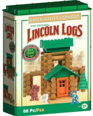 Lincoln Logs Green Valley Lookout 88 Pieces