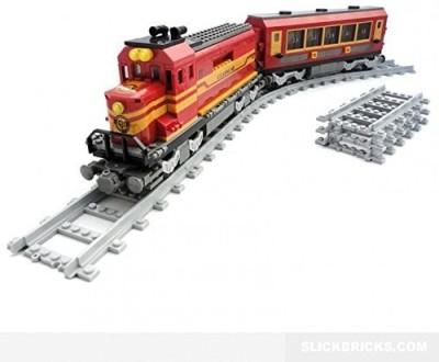 AUSINI Blocks Building Blocks Locomotive Train Passenger Train #25902 630pcs(White)