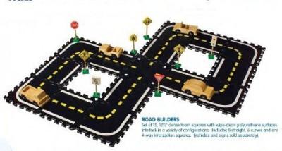 MARV Deluxe Pretend Play Road Way Interlocking Soft Foam