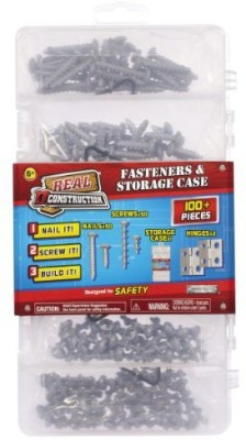 Jakks Pacific real construction accessory sets nails screws hinges case