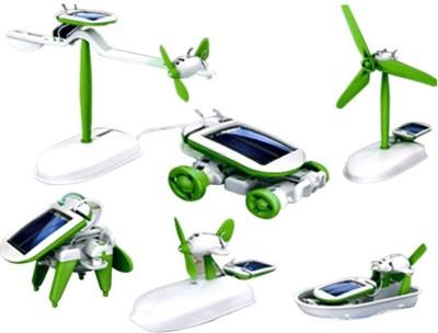 Prro 6 In 1 Educational Hybrid Solar Power Energy Robot Toy Kit