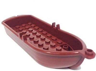 Lego Parts Boat14 X 5 X 2 With Oarlocks (Reddish Brown)