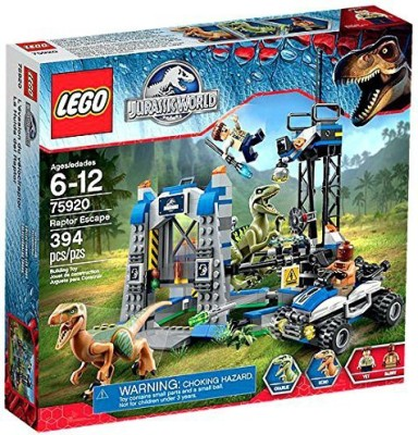 Lego Jurassic Park Jurassic World Raptor Escape Set 75920