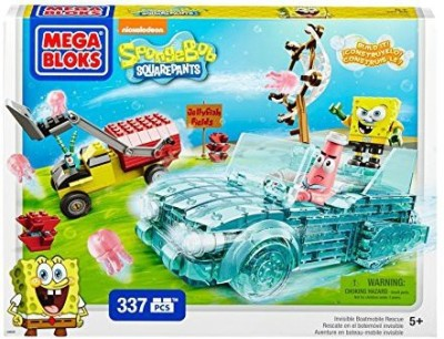 SpongeBob SquarePants Mega Bloks Invisible Boatmobile Rescue
