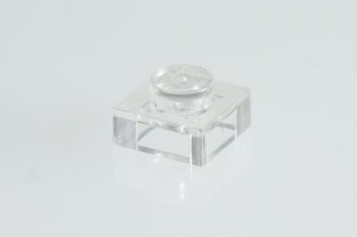 Factory Fresh Bulk Bricks 400X Lego Transparent Clear 1X1 Plates Super Pack