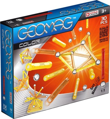 geomag color 30pcsyellow orange - Geomag Color 64 Pieces