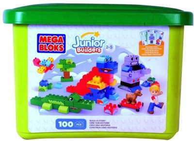 Mega Bloks Mega Bloks Build-a-Story Junior Builders Set - 100pcs